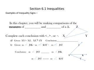 Section 6.1 Inequalities