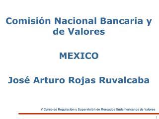 Comisi n Nacional Bancaria y de Valores  MEXICO  Jos  Arturo Rojas Ruvalcaba