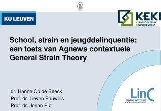 School,  strain  en jeugddelinquentie: een toets van  Agnews  contextuele General  Strain Theory