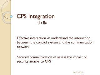 CPS Integration