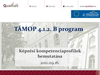 TÁMOP 4.1.2. B program