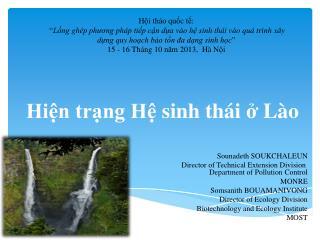 Hiện trạng Hệ sinh thái  ở  Lào