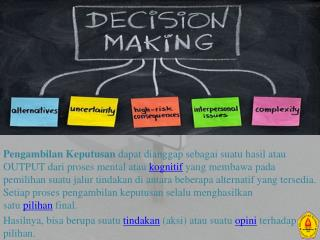 MODELS RELEVANT - tO  MAKING DECISIONS