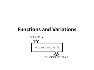 Functions and Variations