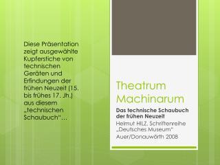Theatrum Machinarum