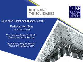 Duke MBA Career Management Center