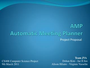 AMP Automatic Meeting Planner
