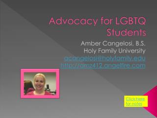 Advocacy for LGBTQ Students