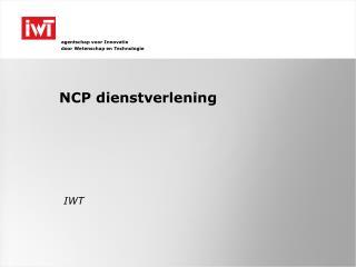 NCP dienstverlening
