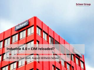 Industrie 4.0 = CIM  reloaded ?