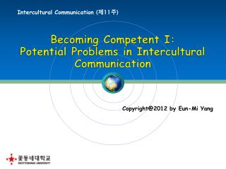 Intercultural Communication  ( 제 11 주 )