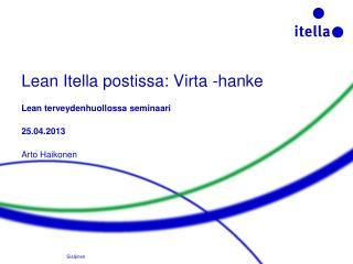 Lean Itella postissa: Virta -hanke