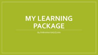 My learning package