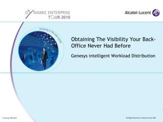 Obtaining The Visibility Your Back-Office Never Had Before