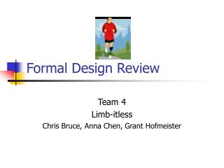 Formal Design Review