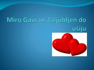 Miro Gavran:Zaljubljen do ušiju