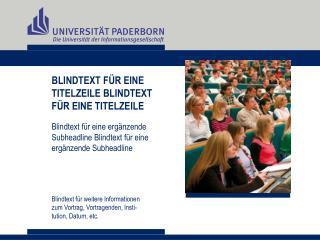 BLINDTEXT FÜR EINE  TITELZEILE BLINDTEXT  FÜR EINE TITELZEILE