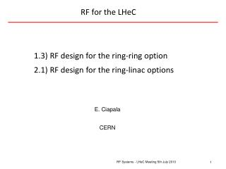 RF for the  LHeC