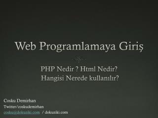 Web  Programlamaya Giriş