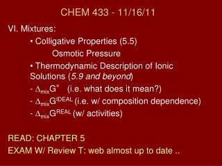 CHEM 433 - 11/ 16/11