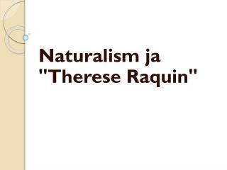 Naturalism ja