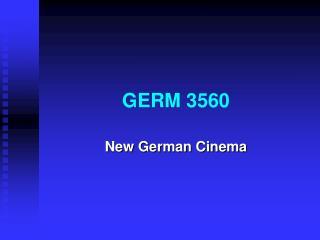 GERM 3560