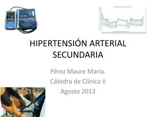 HIPERTENSI�N ARTERIAL SECUNDARIA