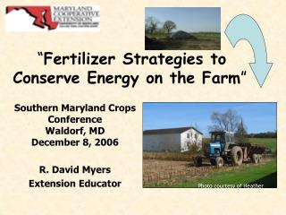 Fertilizer Strategies to Conserve Energy on the Farm
