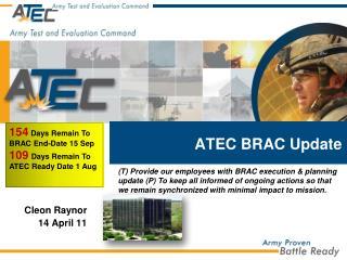 ATEC BRAC Update