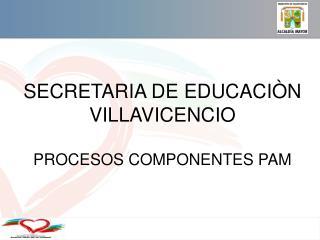 SECRETARIA  DE  EDUCACIÒN  VILLAVICENCIO  PROCESOS COMPONENTES PAM