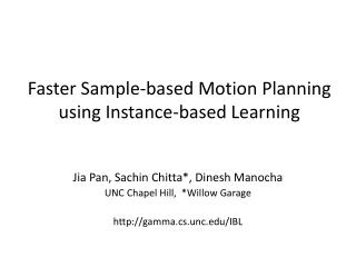 Faster Sample-based Motion Planning using Instance-based Learning