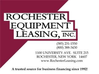 A trusted source for business financing since 1992