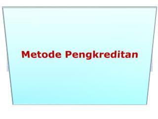 Metode Pengkreditan