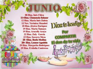 08  Hna. Inés  Chica 11+Hna. Clemencia Salazar 12 Hna. Maria Inés Zuleta 12 Nov. Verónica Mazabel