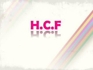 H.C.F