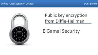 ElGamal  Security