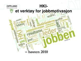 HKI- et verktøy for jobbmotivasjon