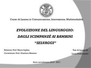 Corso di Laurea in Comunicazione, Innovazione, Multimedialità