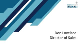 Don Lovelace Director of Sales