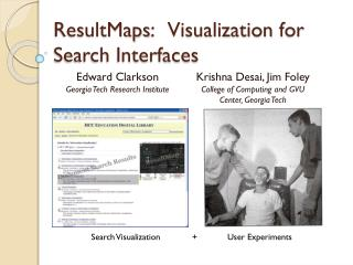ResultMaps :    Visualization  for Search Interfaces