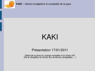 KAKI  - Gestion budg taire et comptable de la paye