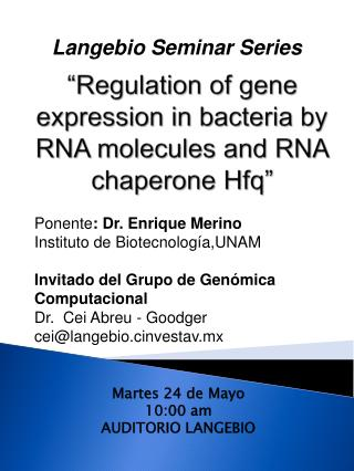 """Regulation of gene expression in bacteria by RNA molecules and RNA chaperone  Hfq """