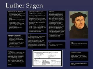 Luther Sagen