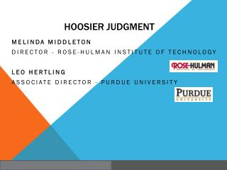 Hoosier Judgment