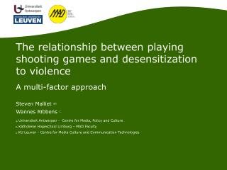 The relationship between playing shooting games and desensitization to violence