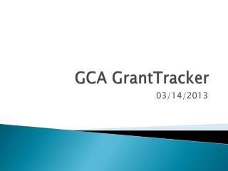 GCA GrantTracker
