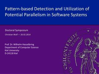 Pattern-based Detection  and Utilization of Potential Parallelism in Software Systems