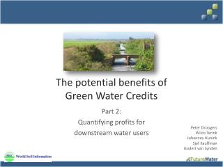 The potential benefits of Green Water Credits