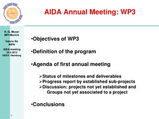 AIDA Annual Meeting: WP3