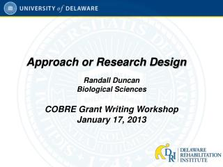 Approach or Research Design